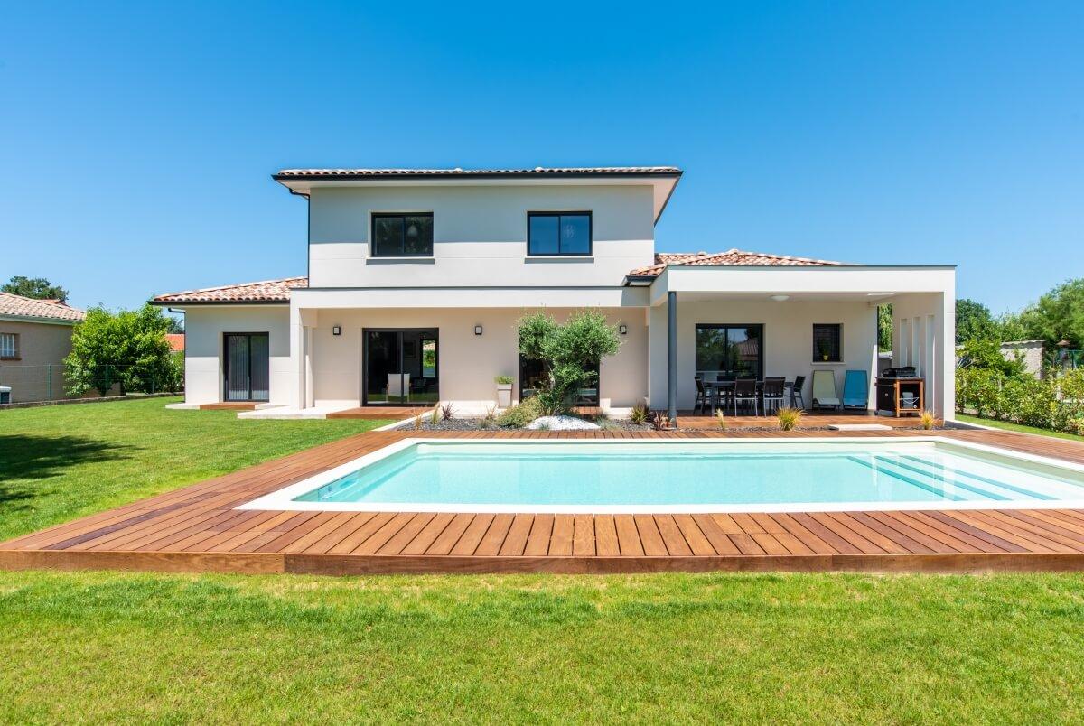 Maison contemporaine toulouse - piscine extérieure