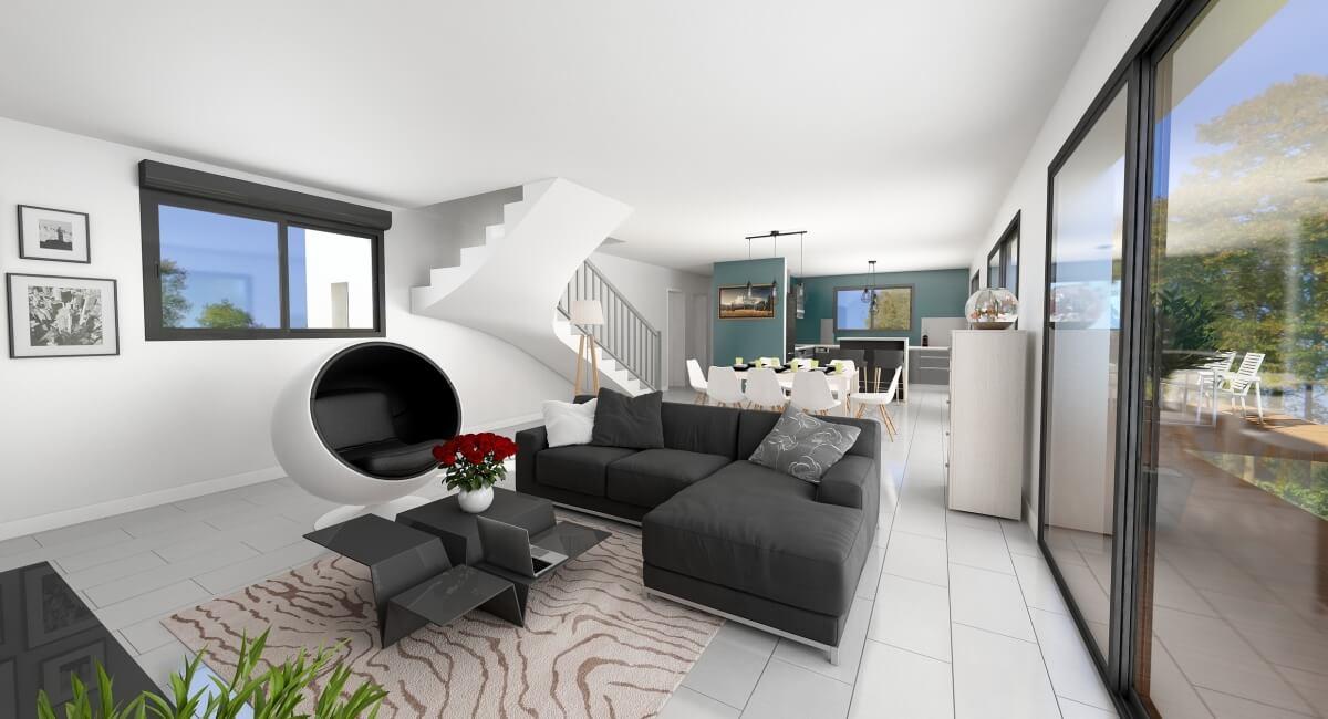 Maison à étage - intérieur