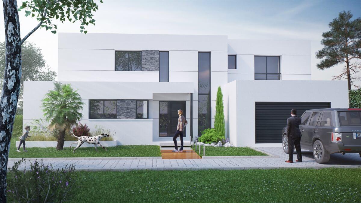 Maison à étage - extérieur