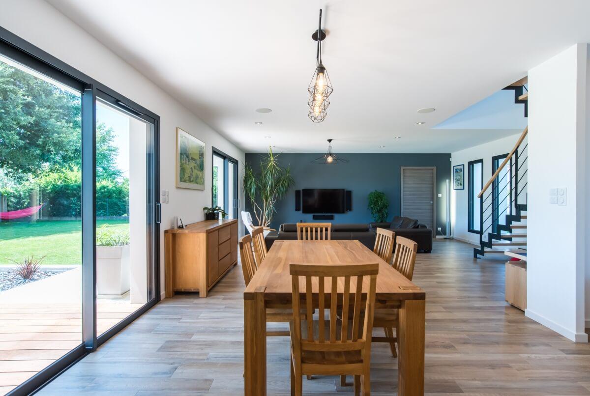 Maison contemporaine toulouse -  intérieur parquet