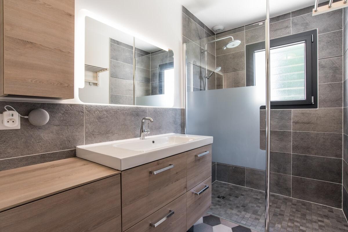 Maison contemporaine toulouse  - douche italienne