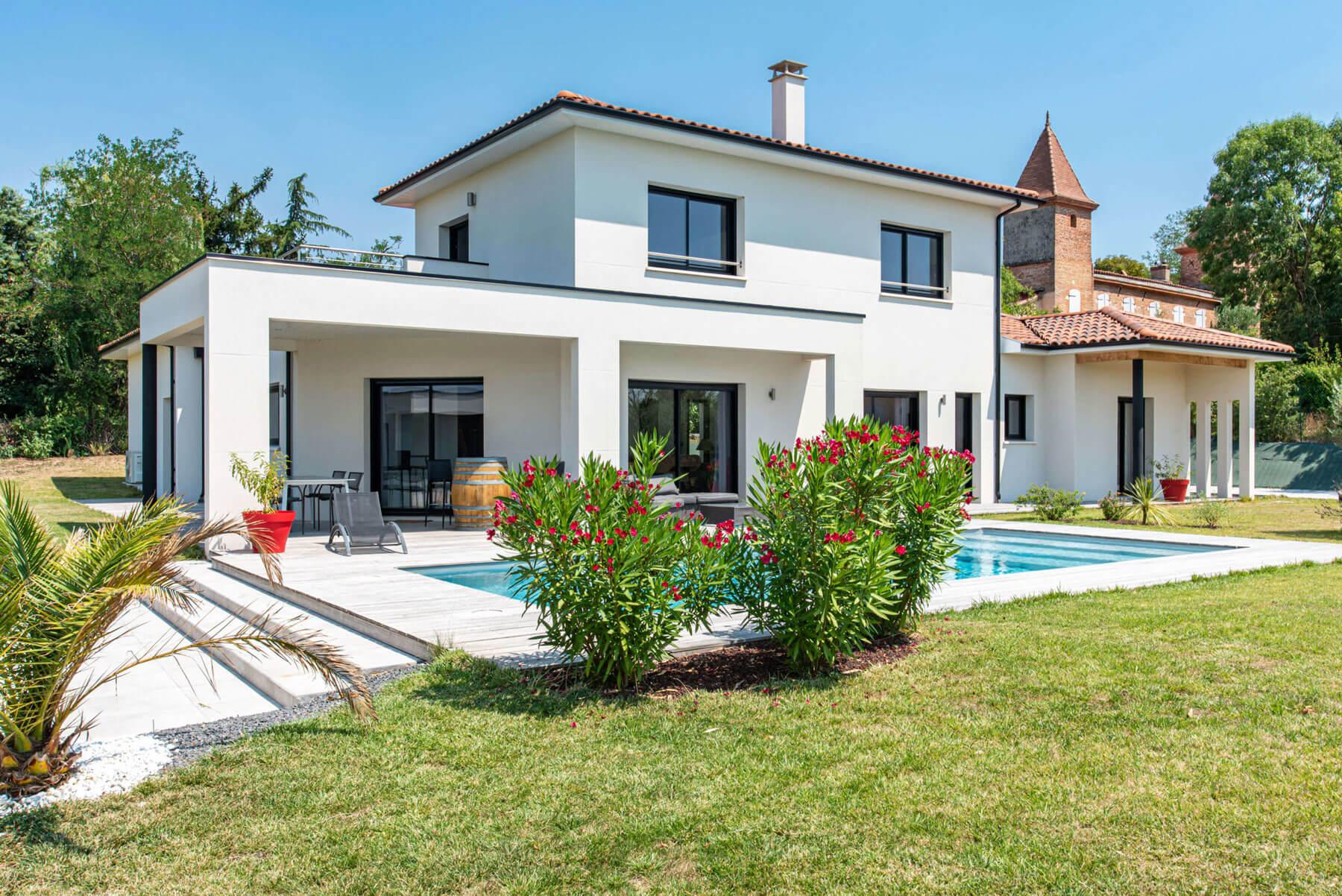 Grand Construction villa extérieur