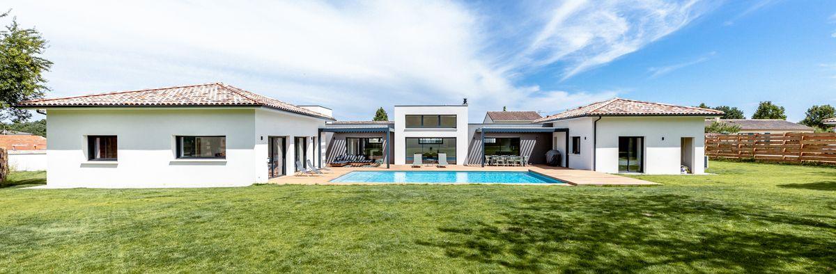 Maison individuelle toulouse - lotissement - rez de chaussée - toit plat
